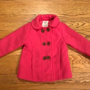 Old Navy Dark Pink Pea Coat